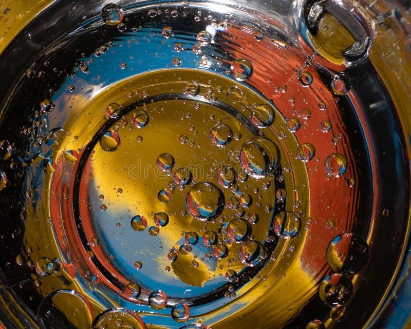 Abstrakt färgrik bubblabakgrund som liknar planeter i universumet royaltyfri illustrationer