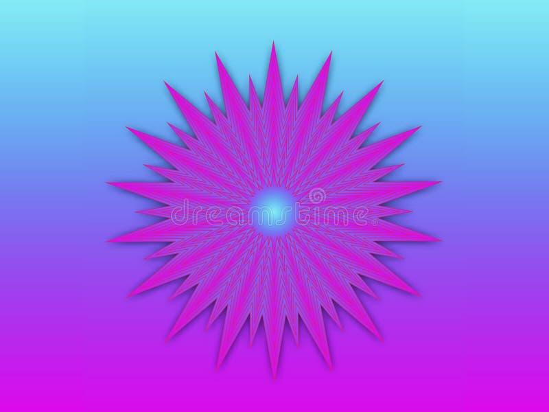Abstrakt f?rgrik dekorativ etnisk modell Rund prydnad med geometriska best?ndsdelar vektor illustrationer
