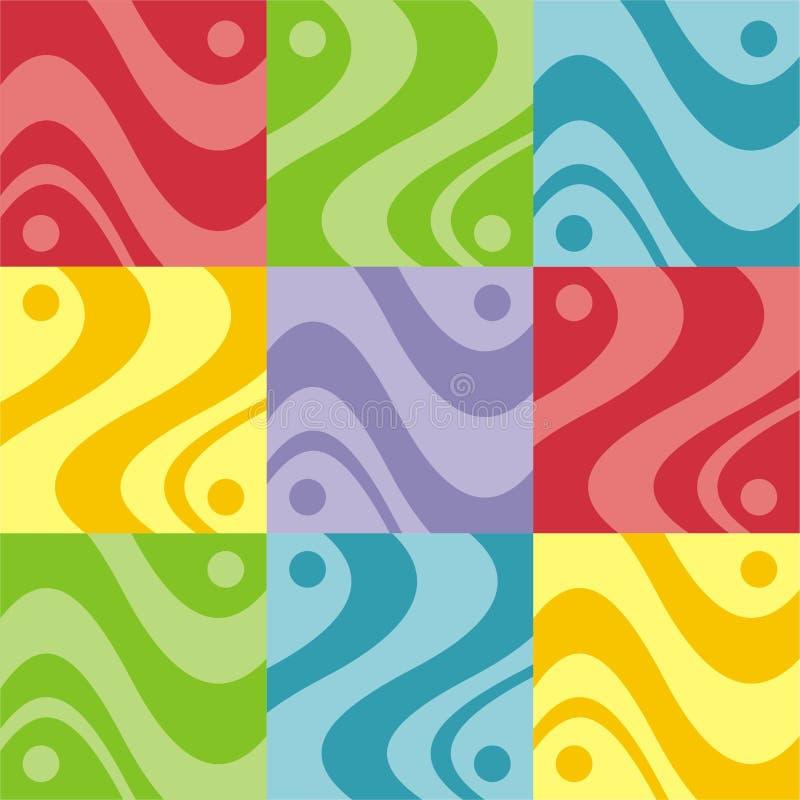 abstrakt färgrik design vektor illustrationer