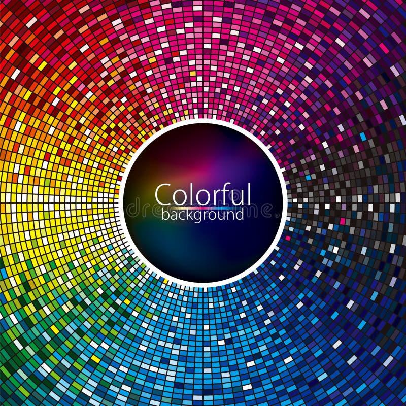 Abstrakt färgrik diskobakgrund stock illustrationer