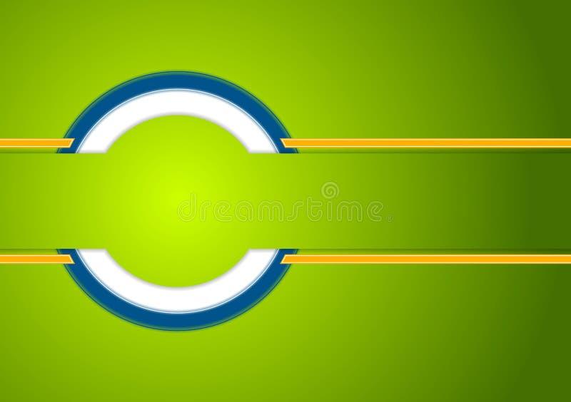 Abstrakt färgrik företags techbakgrund royaltyfri illustrationer