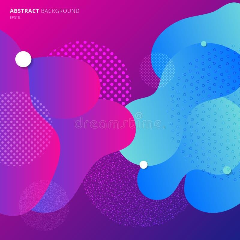 Abstrakt färgrik geometrisk bakgrund för vätskefärglutning modern geometrimodell Sammansättning för banerrengöringsdukdesign royaltyfri illustrationer