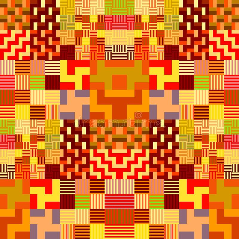 Abstrakt färgrik geometrisk tileable bakgrund royaltyfri illustrationer