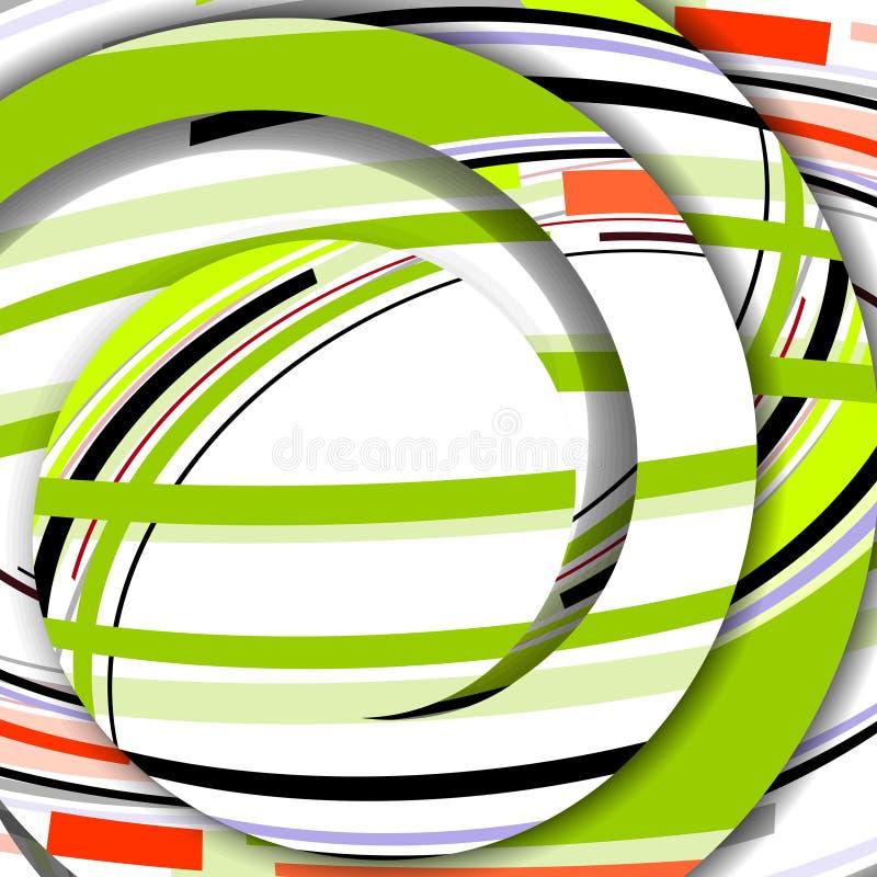 Abstrakt färgrik illustration royaltyfri illustrationer