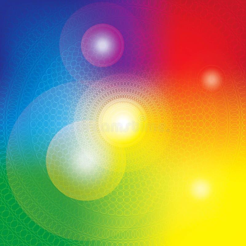Abstrakt färgrik karmavektorbakgrund royaltyfri illustrationer