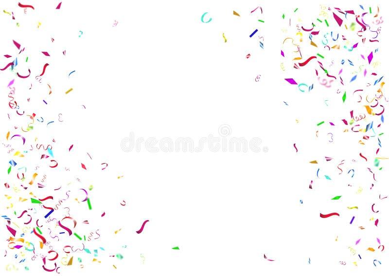 Abstrakt färgrik konfettibakgrund Isolerat på vitbakgrunden royaltyfri illustrationer