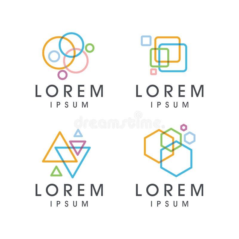 Abstrakt färgrik logo vektor illustrationer