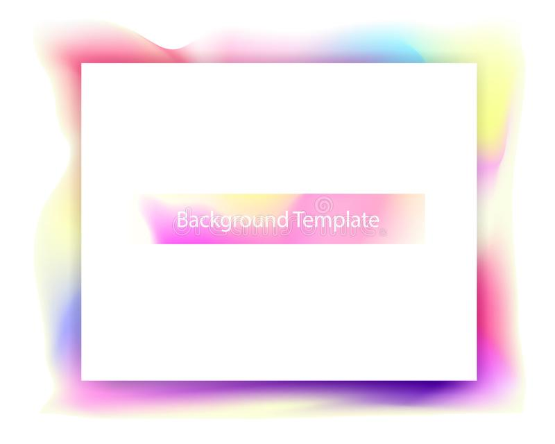 Abstrakt färgrik mallbakgrund med titel vektor illustrationer