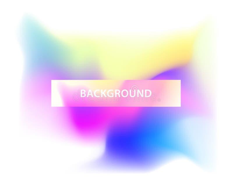 Abstrakt färgrik mallbakgrund med titel royaltyfri illustrationer