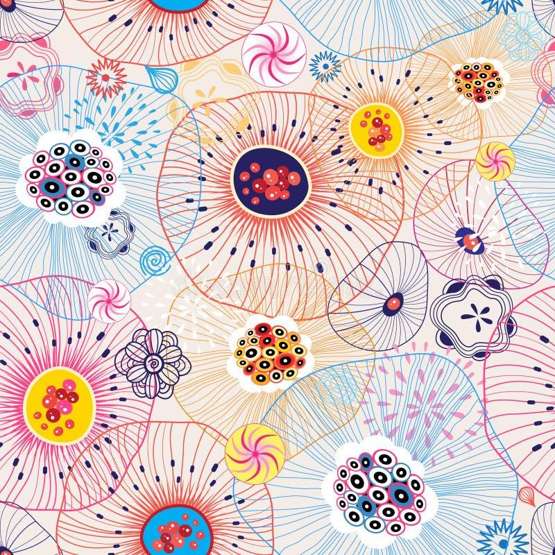 abstrakt färgrik modell royaltyfri illustrationer