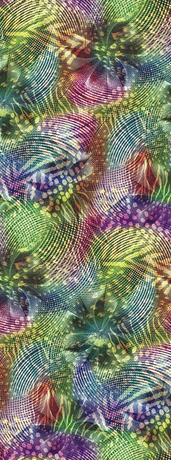 Abstrakt färgrik modell för kvartertryck arkivfoton