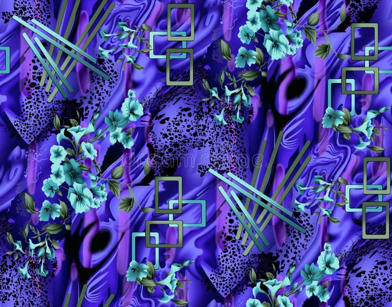 Abstrakt färgrik modell för kvartertryck royaltyfria foton