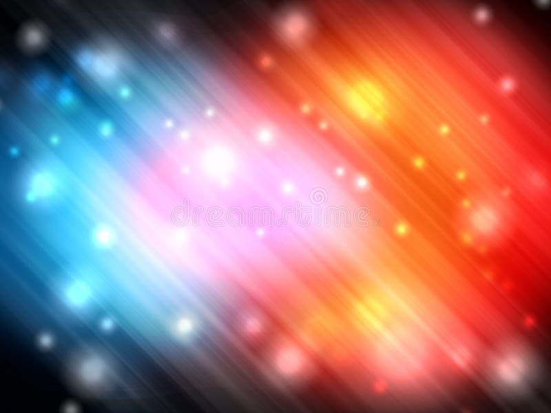 Abstrakt färgrik morgonrodnad med ljus glisterbakgrund royaltyfri illustrationer