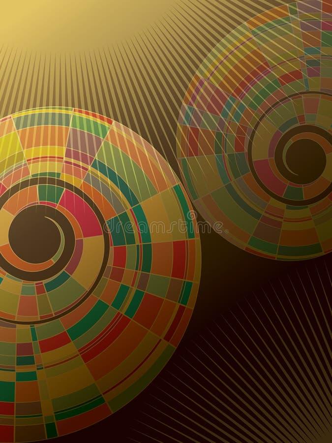 abstrakt färgrik mosaikspiral vektor illustrationer