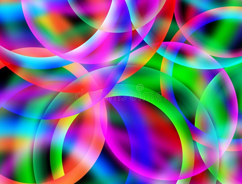 Abstrakt färgrik oskarp cirkeltapet stock illustrationer
