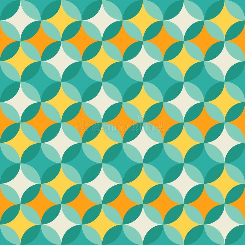 Abstrakt färgrik pastellfärgad geometrisk modell royaltyfri illustrationer