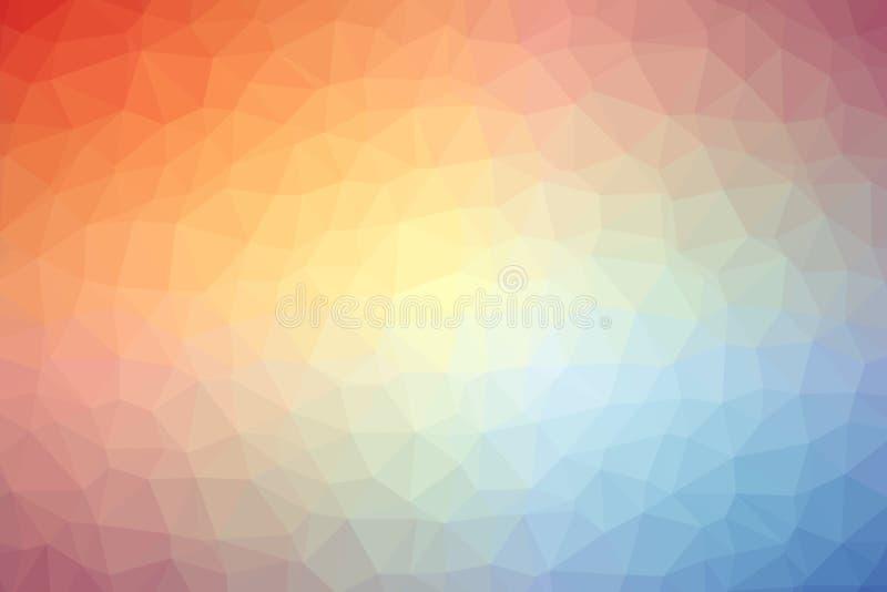 Abstrakt färgrik polygonbakgrund eller vektor royaltyfri foto