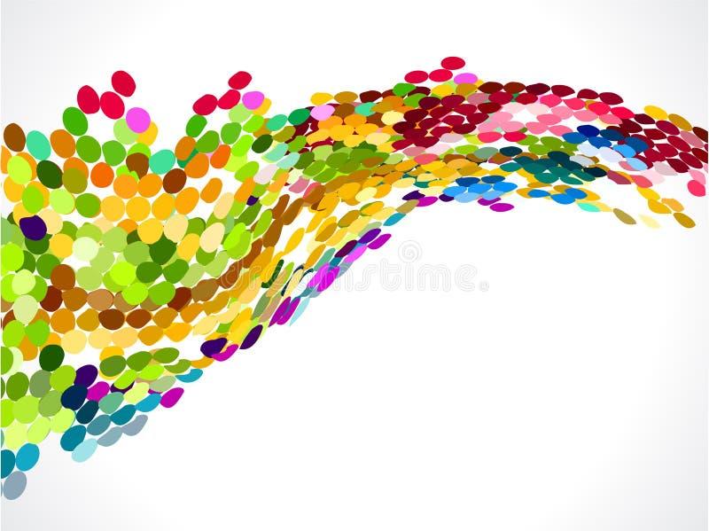 Abstrakt färgrik regnbågecirkelbakgrund royaltyfri illustrationer