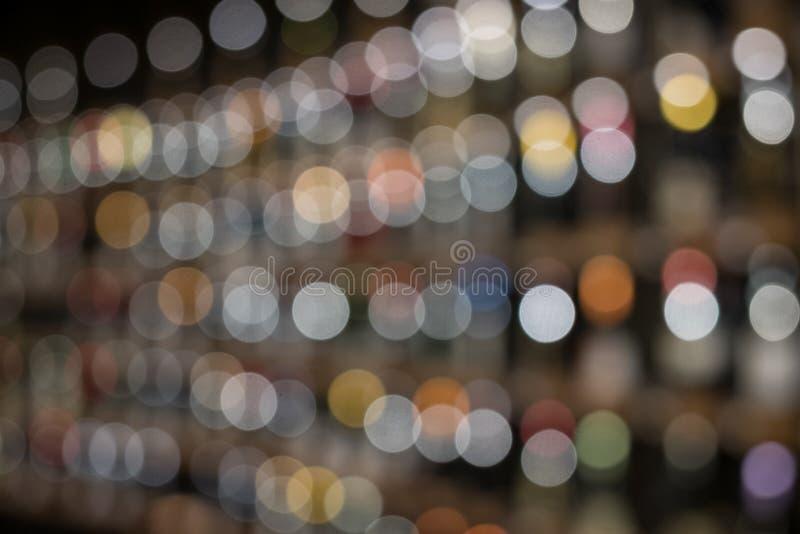 Abstrakt färgrik rund bokehbakgrund av linjen Christmaslight, abstrakt bakgrund arkivfoton