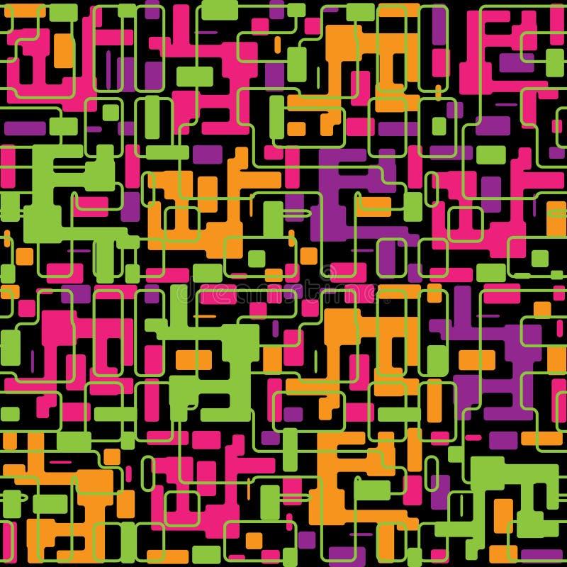 Abstrakt färgrik seamless modellbackgrou för vektor stock illustrationer