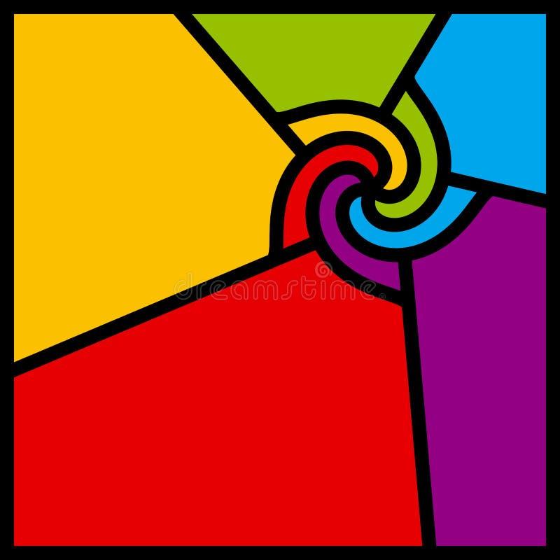 abstrakt färgrik swirlvektor vektor illustrationer