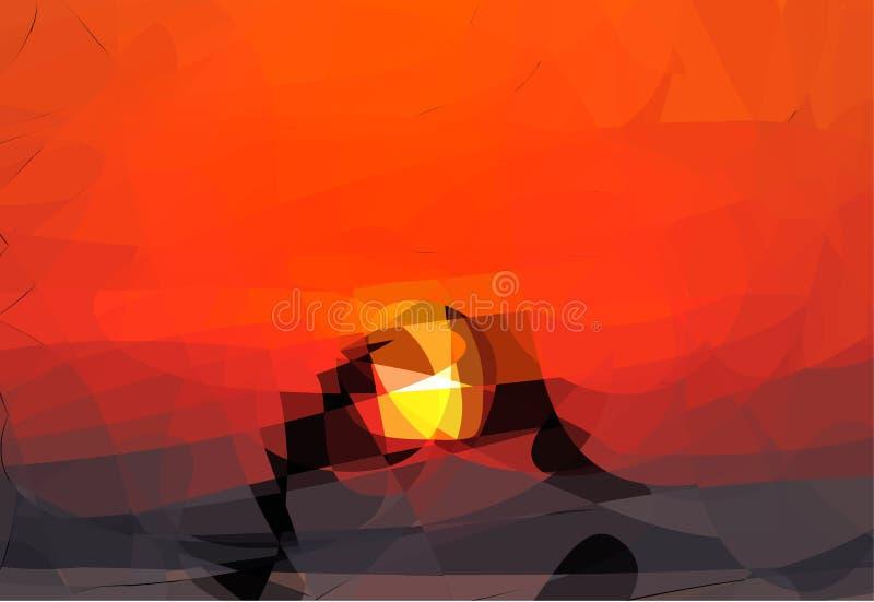Abstrakt färgrik triangelbakgrund stock illustrationer
