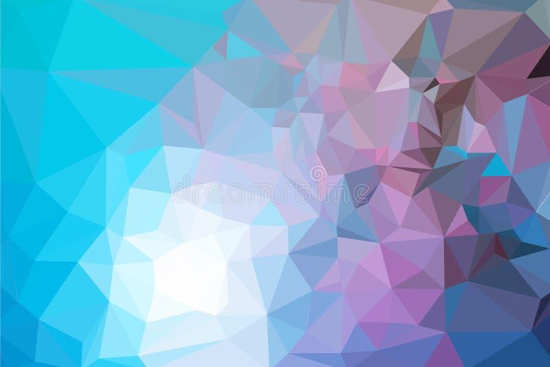 Abstrakt färgrik triangelbakgrund vektor illustrationer