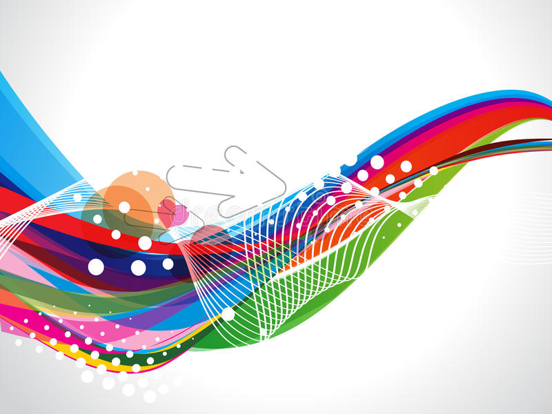 Abstrakt färgrik våg med Dotts royaltyfri illustrationer