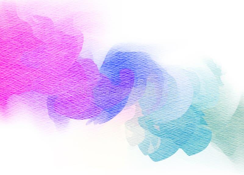 Abstrakt färgrik vattenfärg stock illustrationer