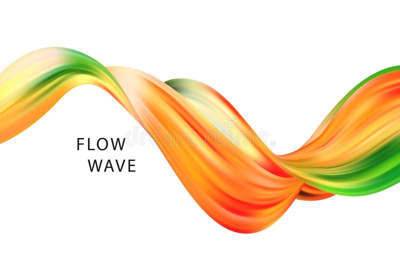 Abstrakt färgrik vektorbakgrund, färgflödesvätskevåg för designbroschyren, website, reklamblad vektor illustrationer