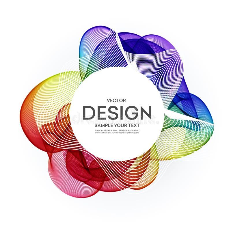 Abstrakt färgrik vektorbakgrund, färgflödesvåg för designbroschyren, website, reklamblad royaltyfri illustrationer