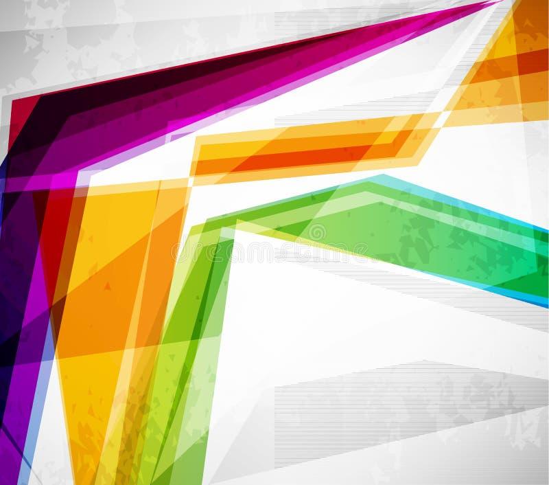 abstrakt färgrika linjer royaltyfri illustrationer