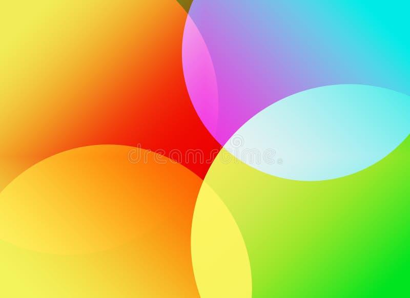abstrakt färgrikt royaltyfri illustrationer