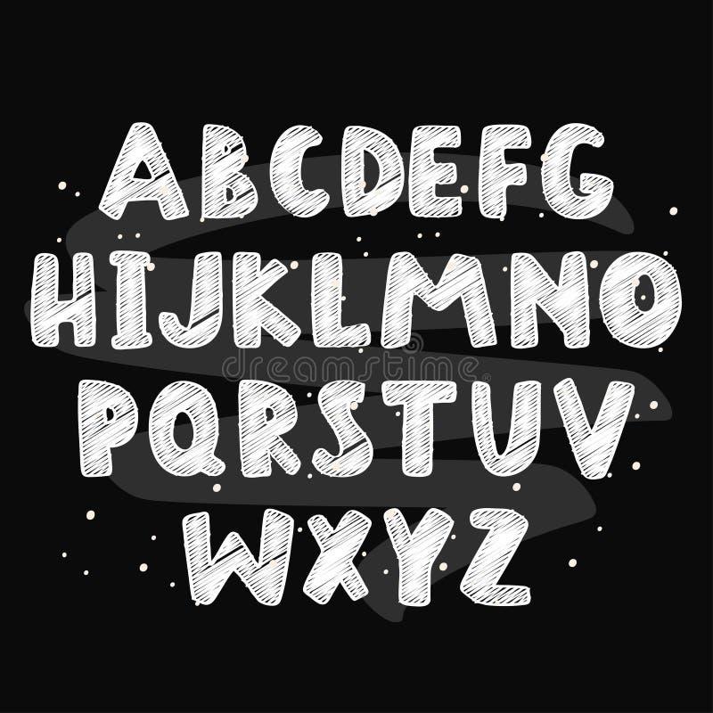 Abstrakt färgrikt alfabet för ungematerial ocks? vektor f?r coreldrawillustration stock illustrationer