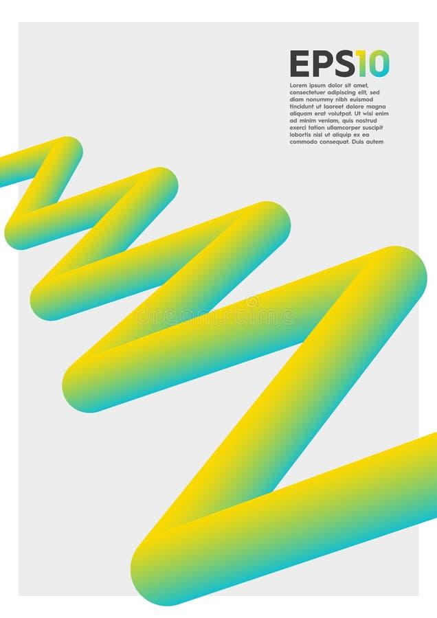abstrakt färgrikt diagram 3D royaltyfri fotografi