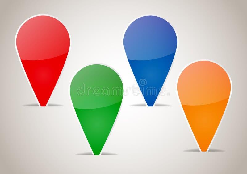 Abstrakt färgrikt förbigår etiketter vektor illustrationer