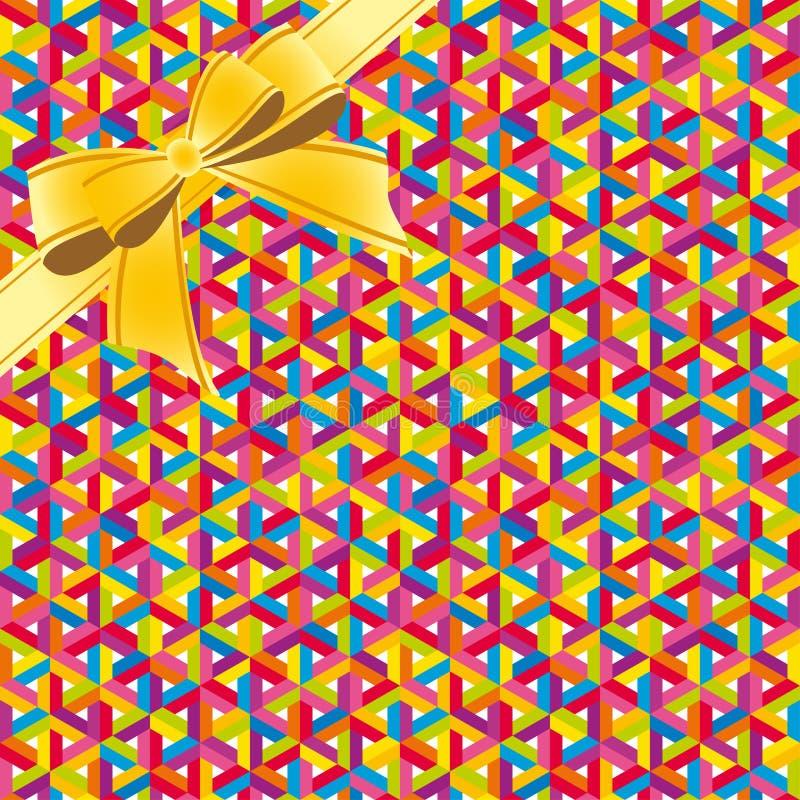 Abstrakt färgrikt geometriskt sömlöst band för modellbakgrundswhis royaltyfri illustrationer