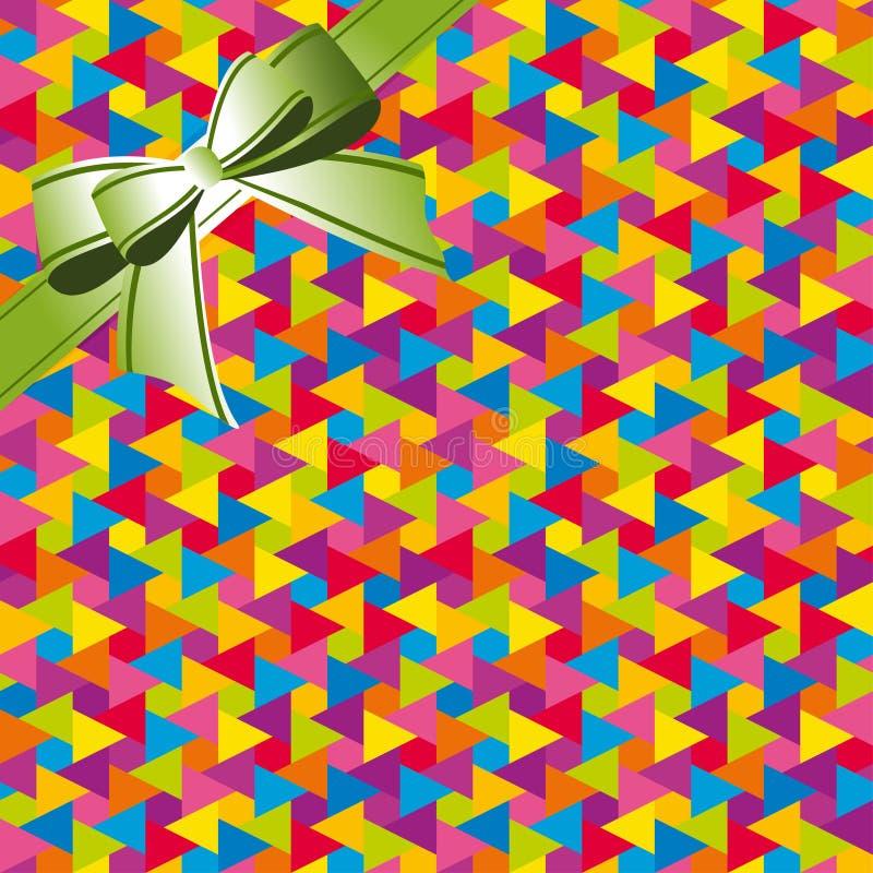 Abstrakt färgrikt geometriskt sömlöst band för modellbakgrundswhis stock illustrationer
