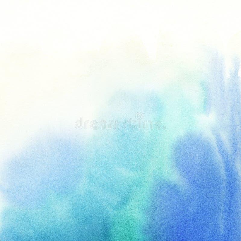 Abstrakt färgrikt ljus målad vattenfärg stock illustrationer