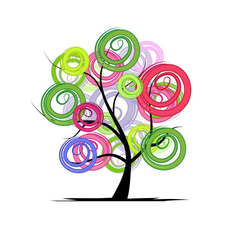 Abstrakt färgrikt träd för din design vektor illustrationer