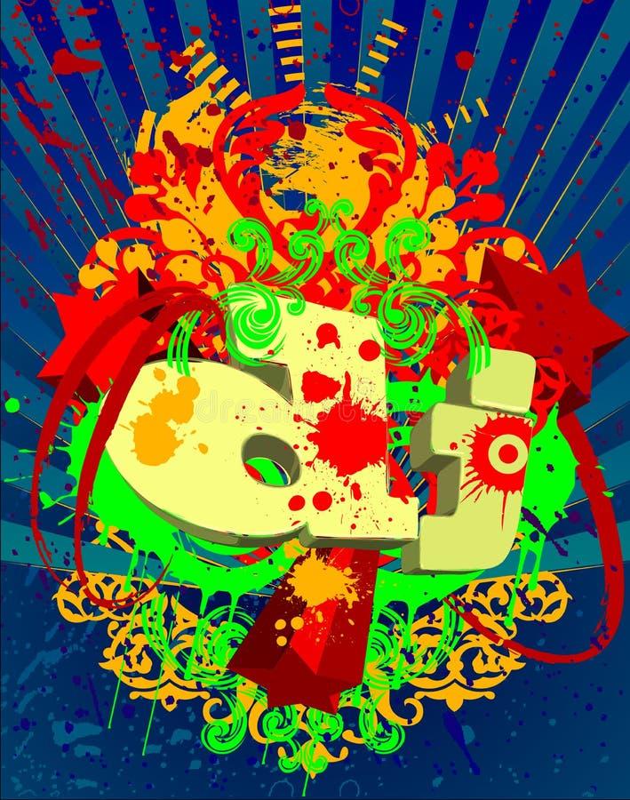 abstrakt färgstänk för bakgrundsdj-musik vektor illustrationer