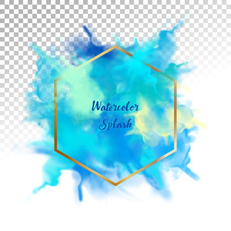 abstrakt färgstänkvattenfärg royaltyfri illustrationer