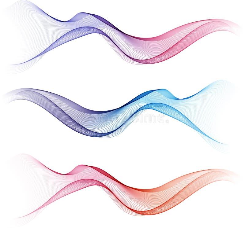 abstrakt färgwaves royaltyfri illustrationer