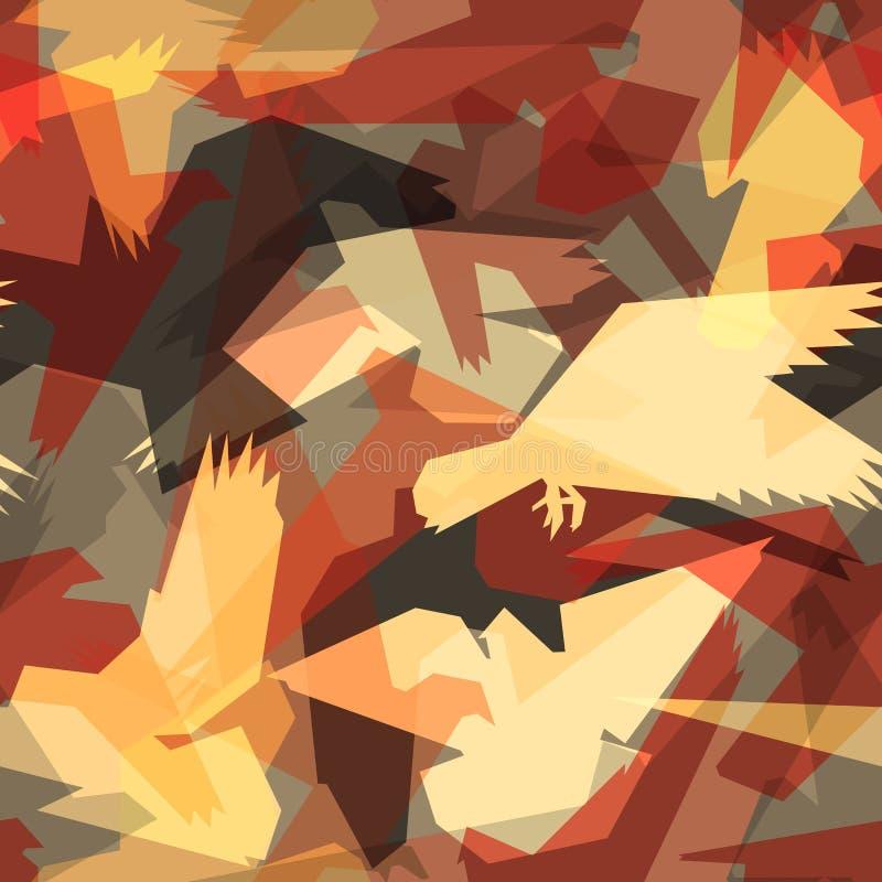 abstrakt fågeltegelplatta vektor illustrationer