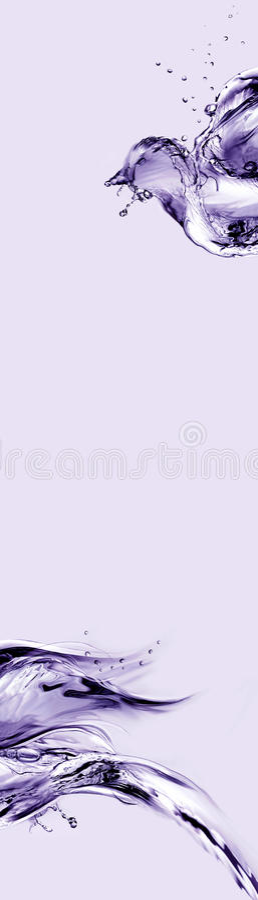 abstrakt fågelvioletvatten arkivfoton