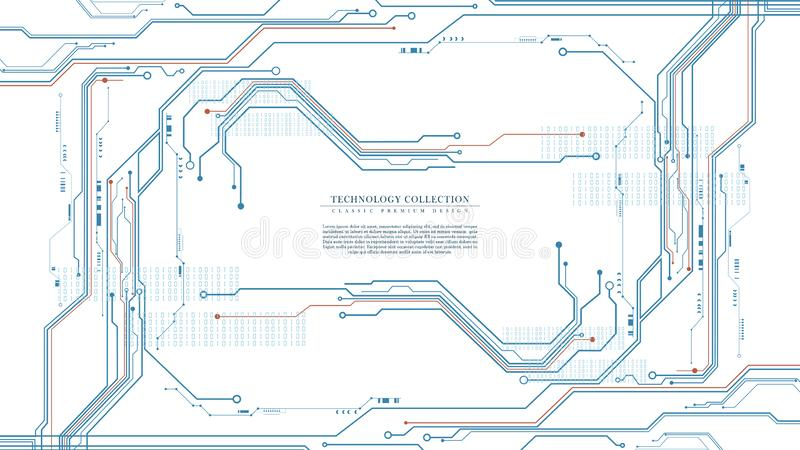 Abstrakt för anslutningsbakgrund för digital teknologi futuristisk iscensätta vektor royaltyfri illustrationer