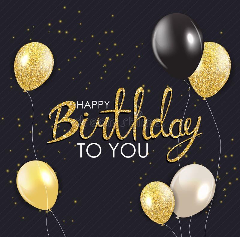 Abstrakt för bakgrundskort för lycklig födelsedag illustration för vektor för mall stock illustrationer