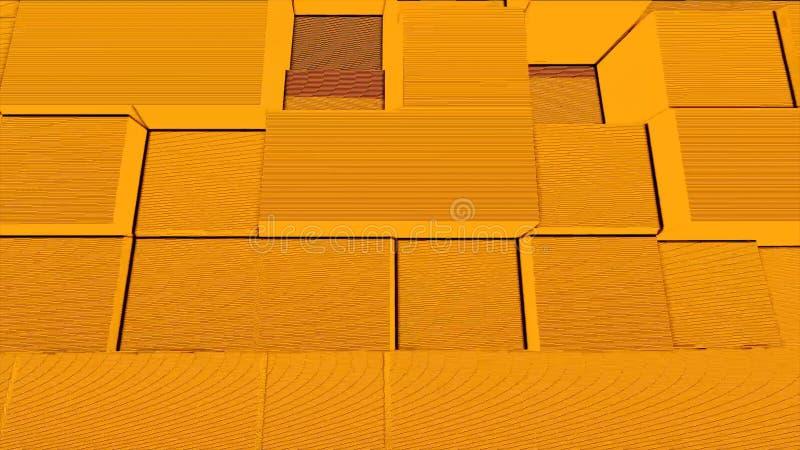 Abstrakt för oväsenpartiklar för fyrkantig ask bakgrund, geometrisk explosion för tecknad filmmosaikrök, modell för konst för avb royaltyfri illustrationer