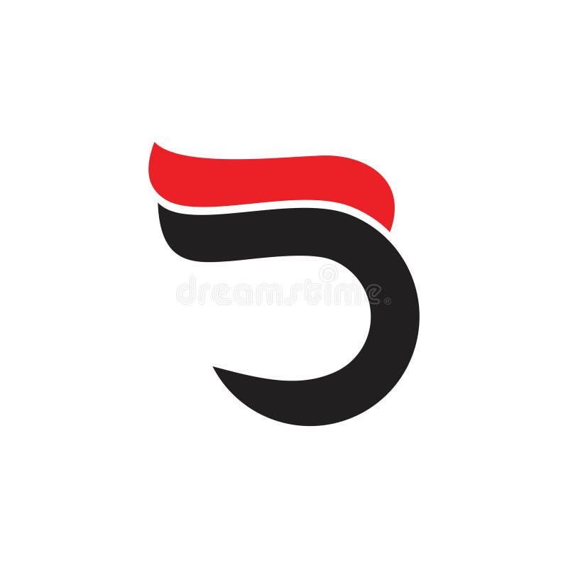 Abstrakt för rörelsedesign för bokstav D snabb vektor för logo för kurvor royaltyfri illustrationer