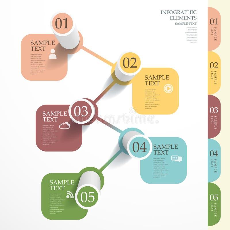 Abstrakt för stångdiagram för rör 3d infographics vektor illustrationer